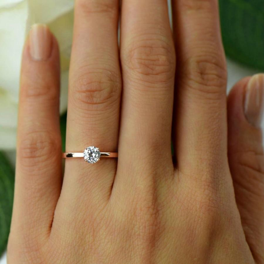1 2 ct promise ring engagement ring 4 prong solitaire