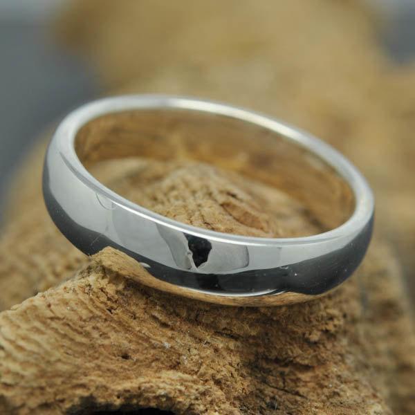 Wedding - 14K palladium white gold ring, 4mm x 1mm, half round, wedding band, wedding ring, mens wedding ring, mens wedding band, size up to 10