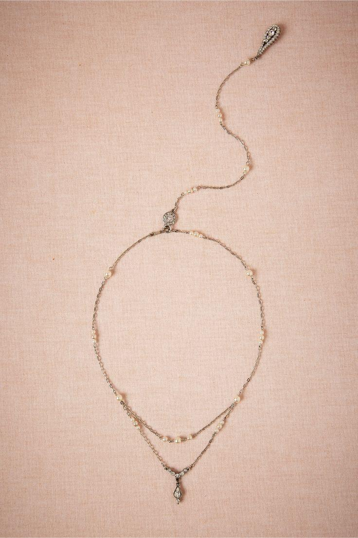 Hochzeit - Pearly Back Drape Necklace