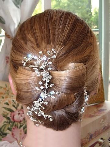 Hochzeit - Bridal Hair Vine with Rhinestones Wedding Headpiece Boho Hair Piece Headband: Garden of Eden Vine