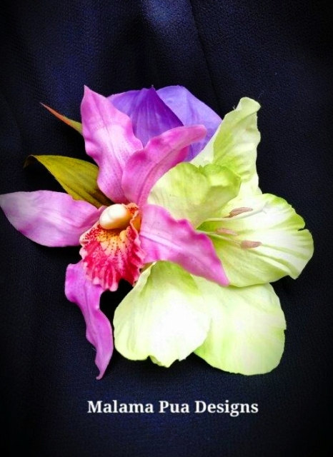 Orchid Hibiscus Hair Accessory Tropical Hair Flowers Wedding