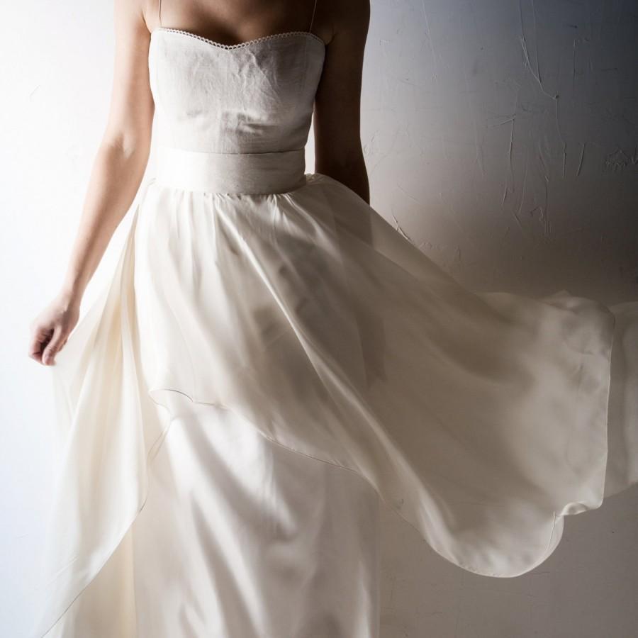 Bridal Sash Silk Belt Wedding Ivory White Cream Waistband Accessories Obi