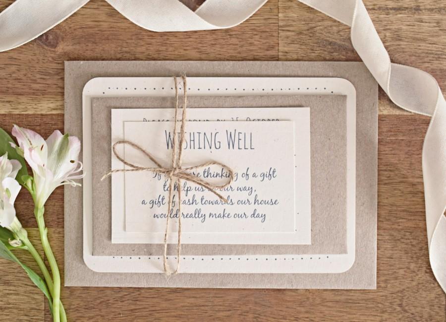 زفاف - Rustic Wedding Invitation Suite