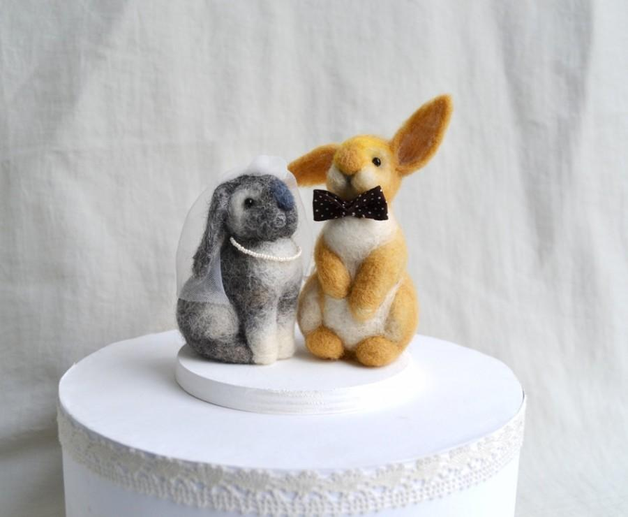 Mariage - Wedding Cake Topper Love bunnies