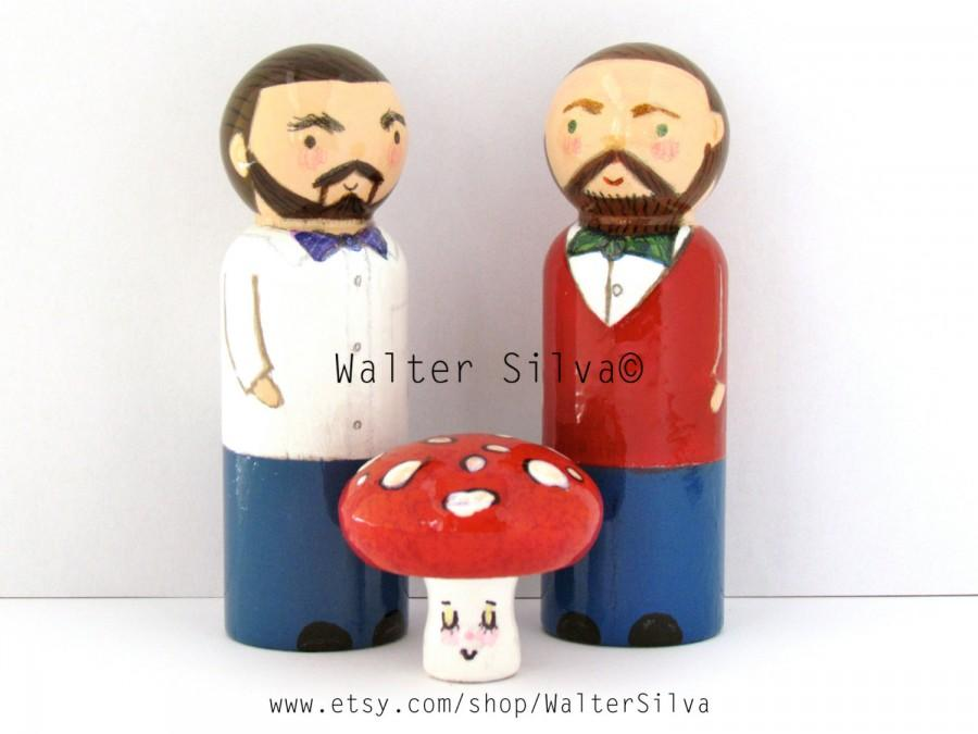Mariage - Same Sex Wedding Cake Toppers - Gay Bears Wedding - Customized Cake Toppers
