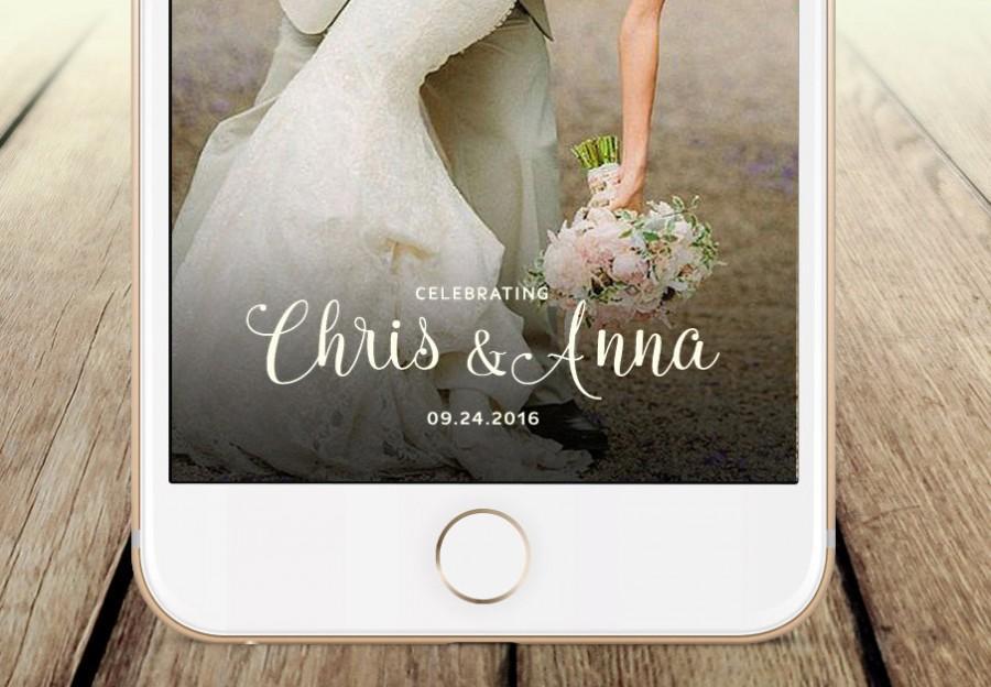 Свадьба - Snapchat Geofilter Wedding: Custom Geofilter, Snapchat Geofilter, Personalized Geofilter, Wedding Snapchat Filter, Custom Wedding, gift