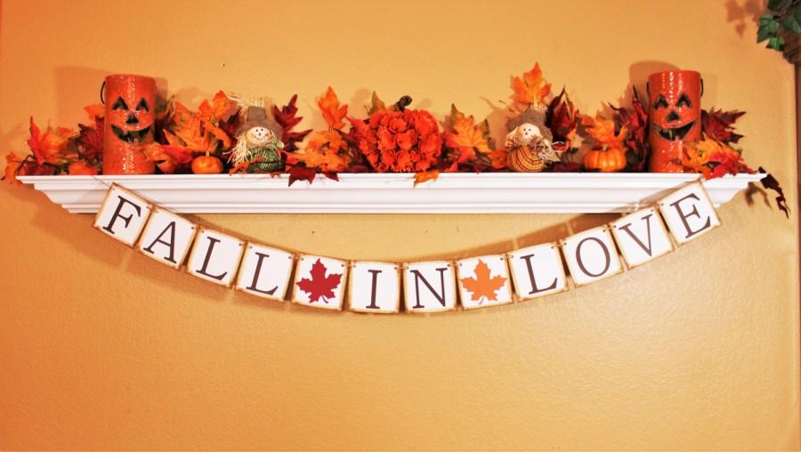 Свадьба - FALL WEDDING BANNERS and Signage, Fall Garland, Save the Date Sign, Fall in Love, Save the Date Fall Banner, Fall Wedding Decoration, Prop