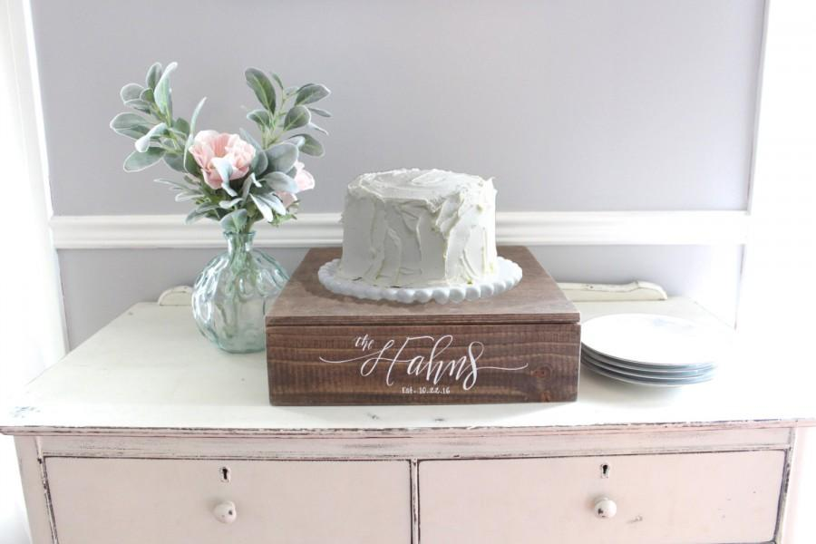 Rustic Wedding Cake Stand, Wooden Cake Stand, Wedding Decor, Vintage ...