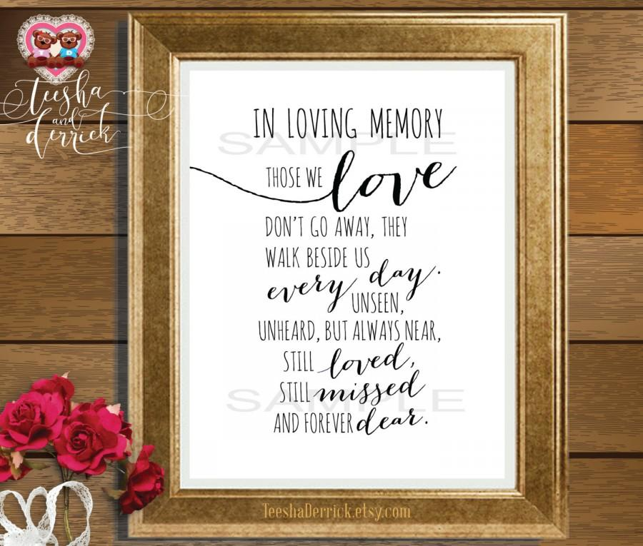 in loving memory, instant download printable wedding memorial, Powerpoint templates