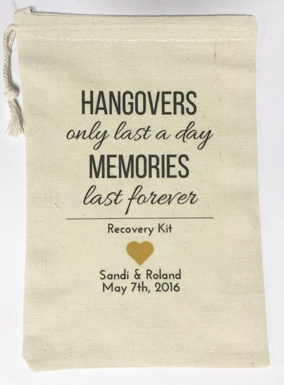 10 Wedding Favors Bachelorette Party Favor Hangover Kit Survival Birthday