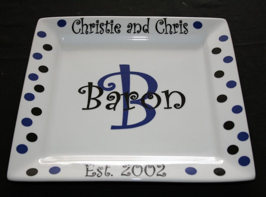 Mariage - Personalized Porcelain Wedding or Anniversary Display Plate