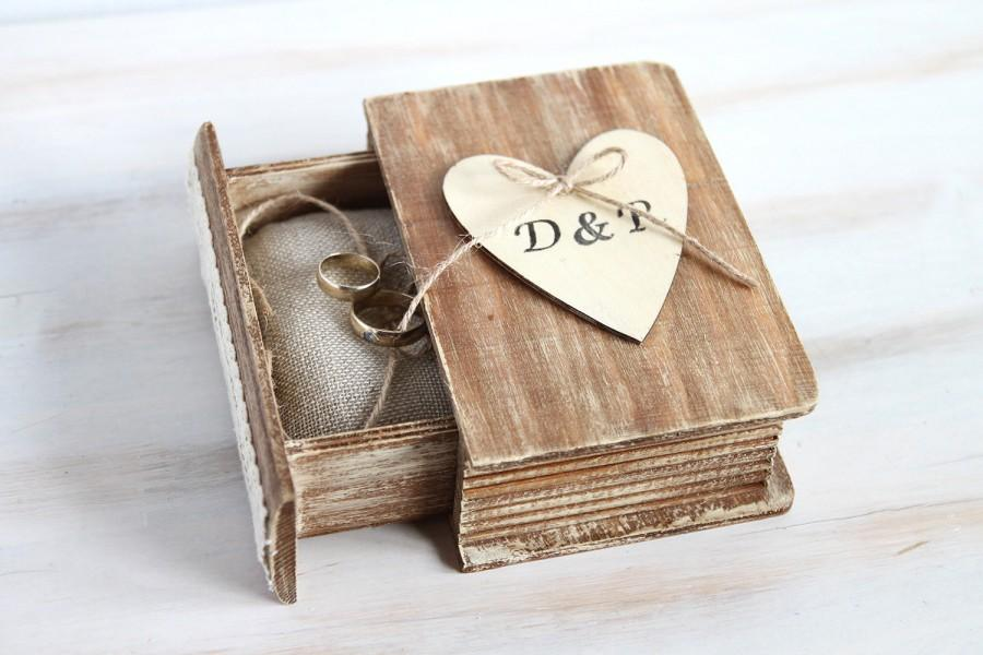Rustic Wedding Box Ring Bearer Box Personalized Ring Box ngagement