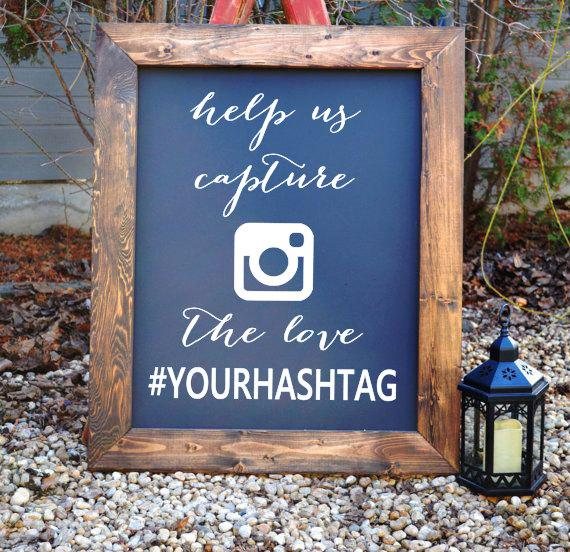Wedding hash tag sign decals wedding hashtag sign for Decor hashtags