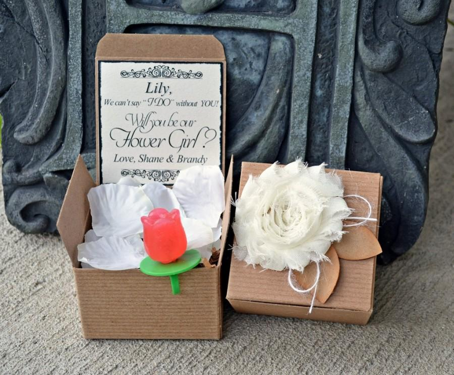 Ring POP Will You Be My Flower Girl Rose Boxed Invite POP The