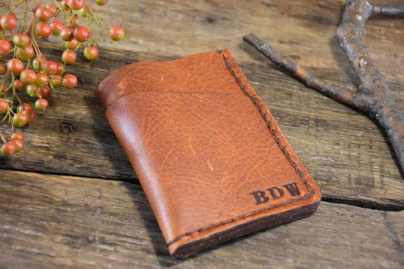 Свадьба - Front Pocket Wallet, mens Personalized Wallet, Minimalist Wallet men personalized, Groomsmen Gift, Mens leather Wallet, Leather Wallet,NL103