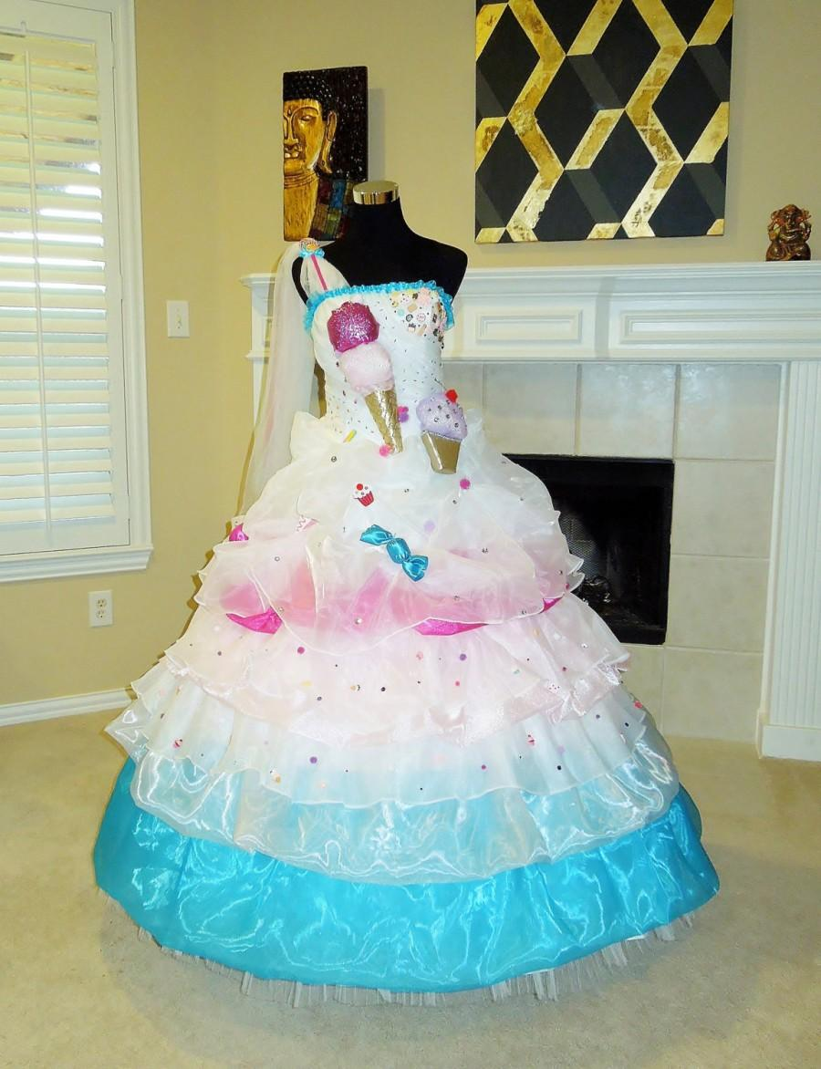 Katy Perry California Gurls Inspired Candy Wedding Dress Outfit Unique Youth Adult Any Color Theme Size Handmade Custom Kawaii Harajuku