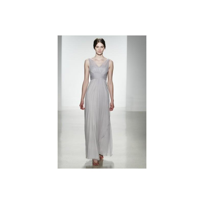 Wedding - Charming A-line Straps V-neck Ruching Floor-length Chiffon Evening Dresses - Dressesular.com