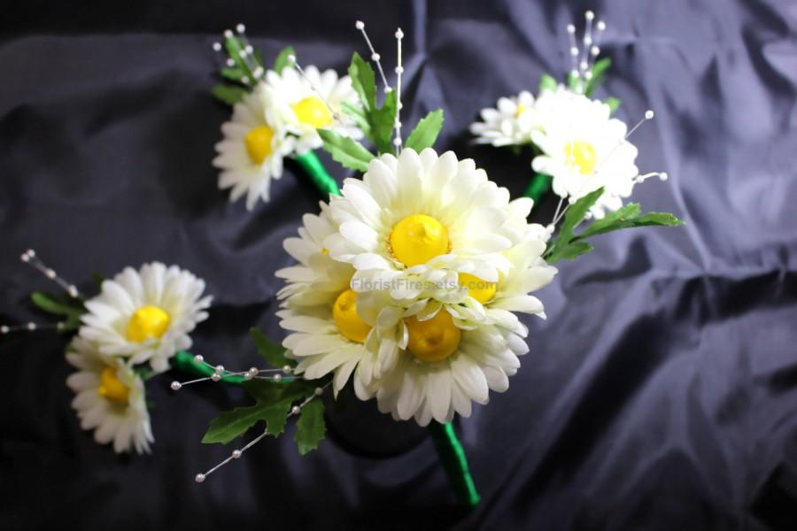 Booby Bouquet™ Gerbera Daisy Wedding Bridal Bouquet Set Bachelorette ...
