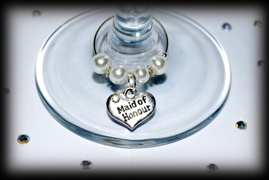 Wedding Favors Favours Wine Gl Charms Top Table And Other Roles Available Decorations Bride Bridesmaid Flower