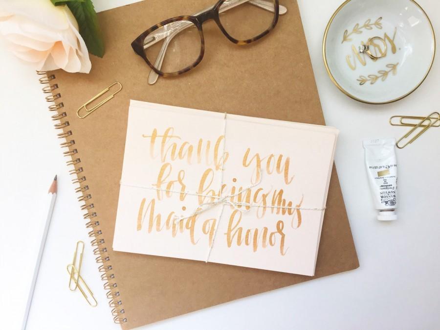 زفاف - Thank You For Being My Bridesmaid