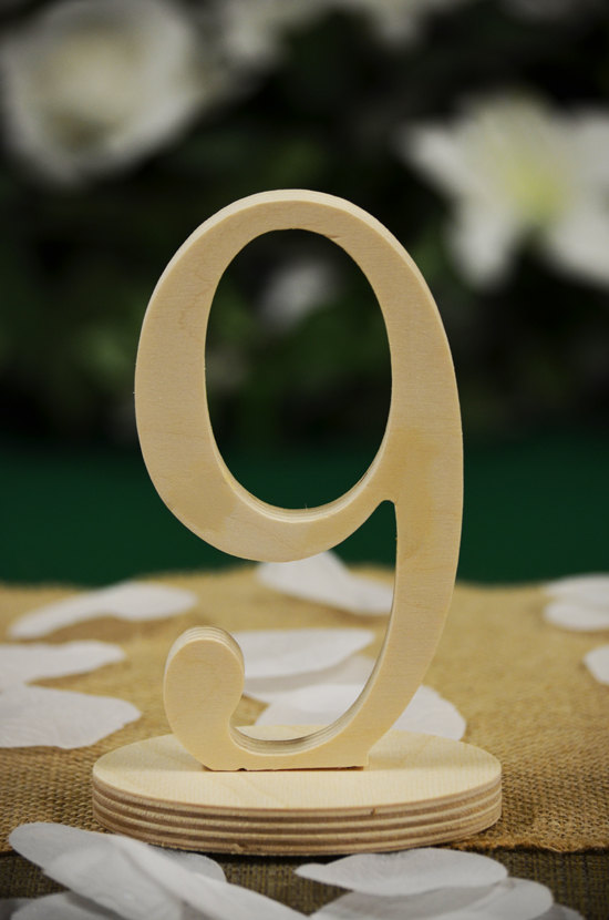 Mariage - Wedding Table Numbers, Freestanding Numbers, Wedding Decoration, Price per Number, Wood Table Number, Party Event Decor, Anniversary Decor