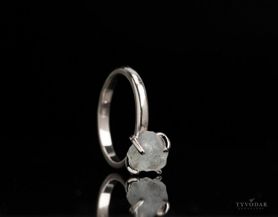 Свадьба - Aspera crystallum - Minimalist engagement ring, natural crystal and gold, delicate engagement ring, white gold, natural crystal