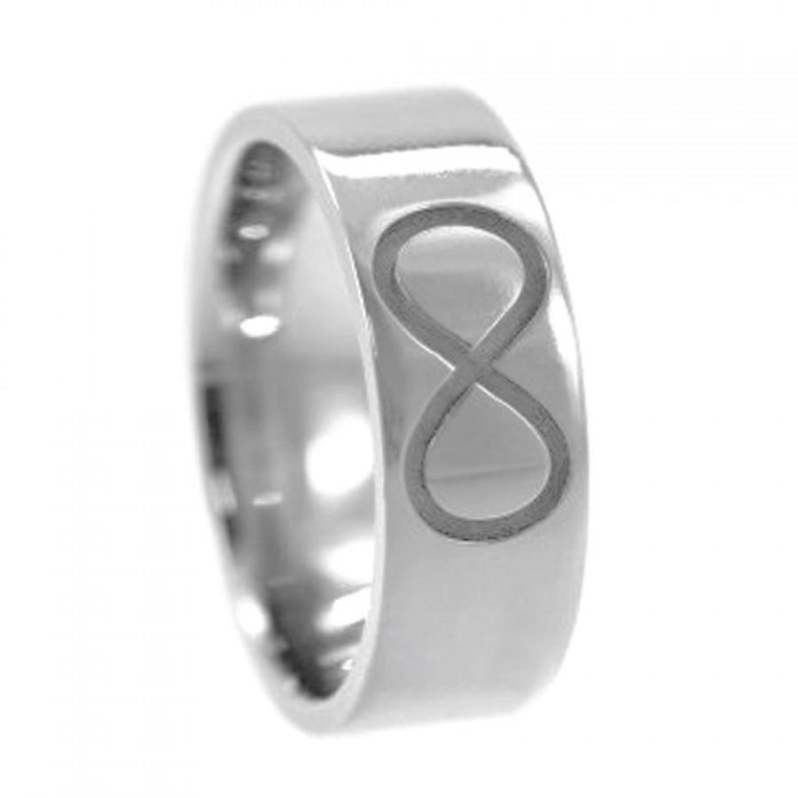 Свадьба - Infinity Knot Ring, Trinity Ring, Engraved Christian Fish Ring, Titanium Wedding Band