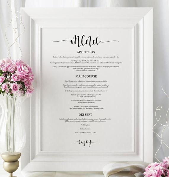 Hochzeit - Wedding Menu Board - Printable Wedding Menu - Wedding Menu Posters - Wedding Sign Template - Wedding Menu PDF Instant Download