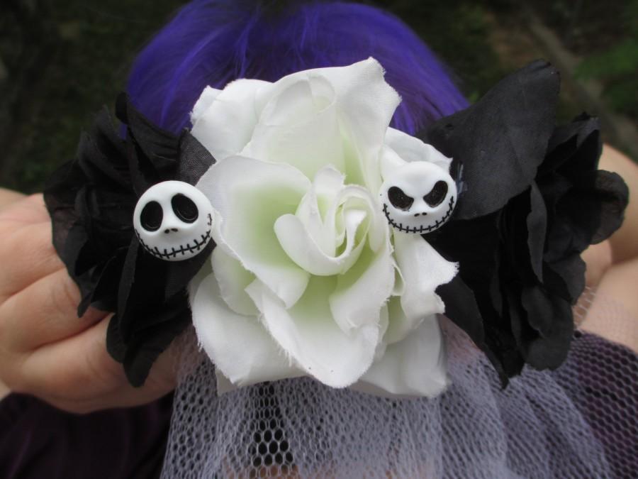 nightmare before christmas wedding veil jack skellington wedding veil halloween wedding veil gothic wedding veil jack and sally wedding