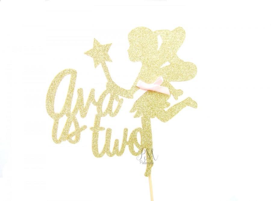 Свадьба - Custom Name Glitter Fairy Cake Topper - Girls Birthday Cake Topper, 1st Birthday, Cake Bunting, Birthday, Fairy Party, Princess Party