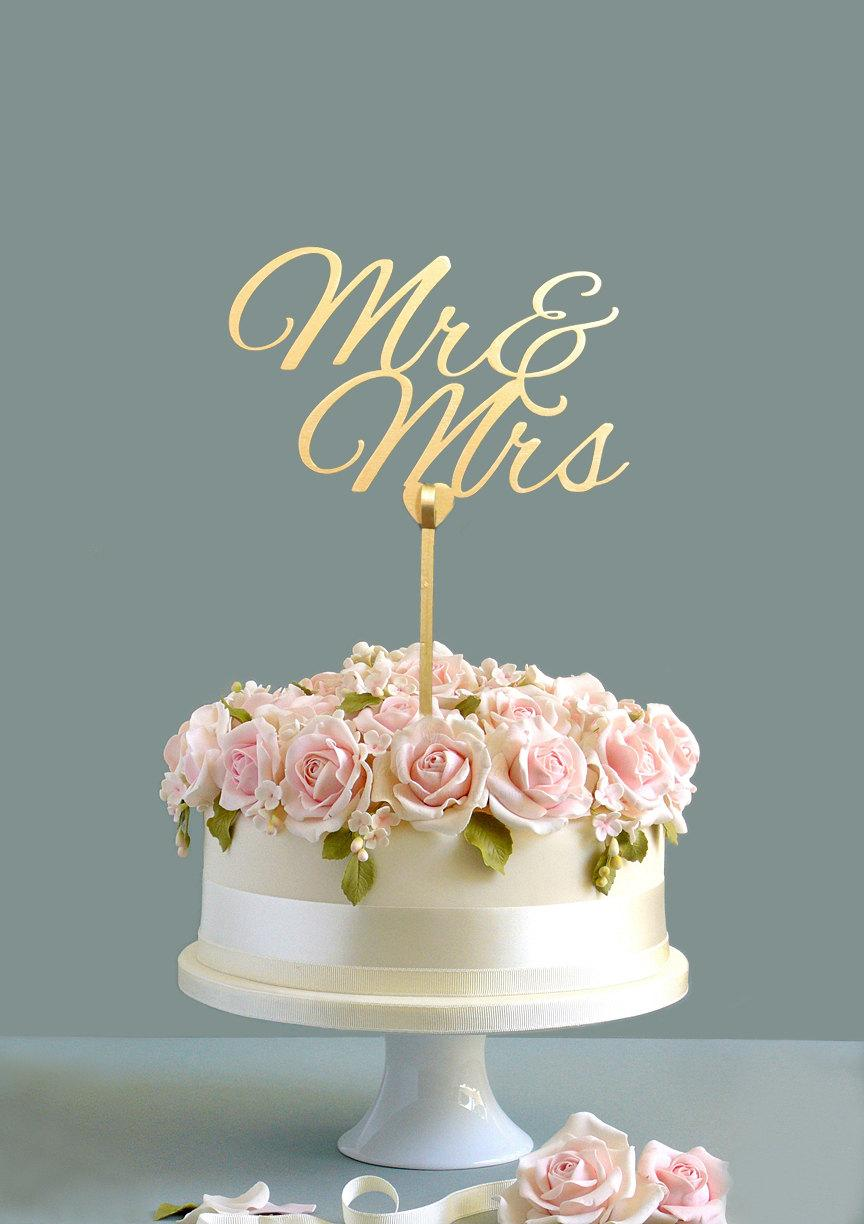 زفاف - Wedding cake topper, Mr & Mrs cake topper, gold cake topper, wooden cake topper, custom cake topper, Item009