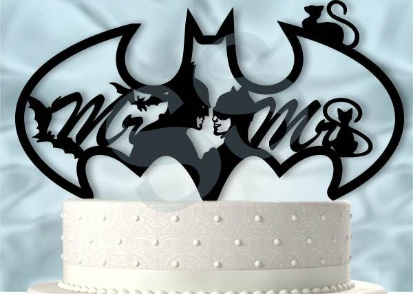 Mr And Mrs Batman And Catwoman Wedding Cake Topper #2604695 - Weddbook