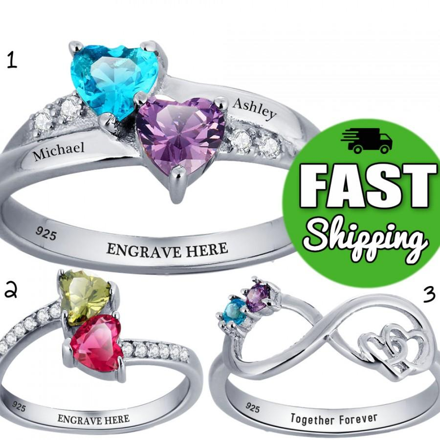 promise rings for her engraved