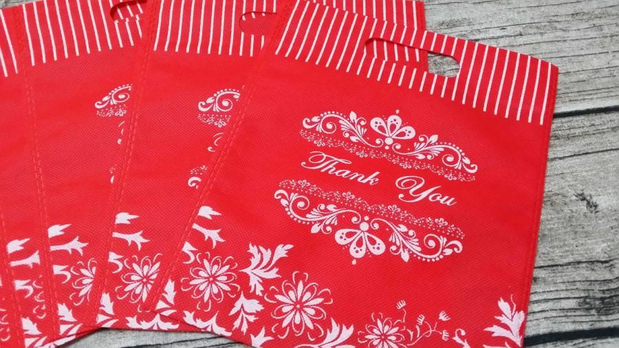 زفاف - 20 Thank You Non Woven Wedding Bags,Wedding Favor Bags, Candy Bags,Gift Bags,Party Bags,Thank you Bags