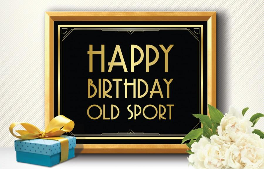 Printable HAPPY BIRTHDAY Old SPORT