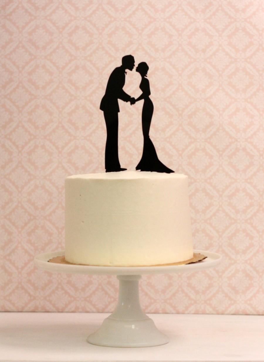 Wedding - Silhouette Wedding Cake Topper - Silhouette Cake Topper - Made to Order