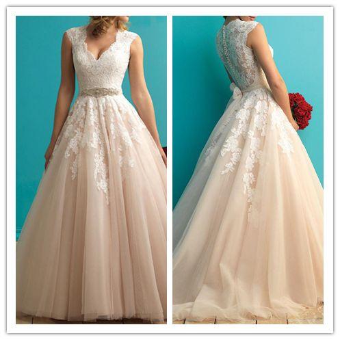 Wedding - 2016 Marvelous Tulle Jewel Neckline Mermaid Lace Wedding Dress