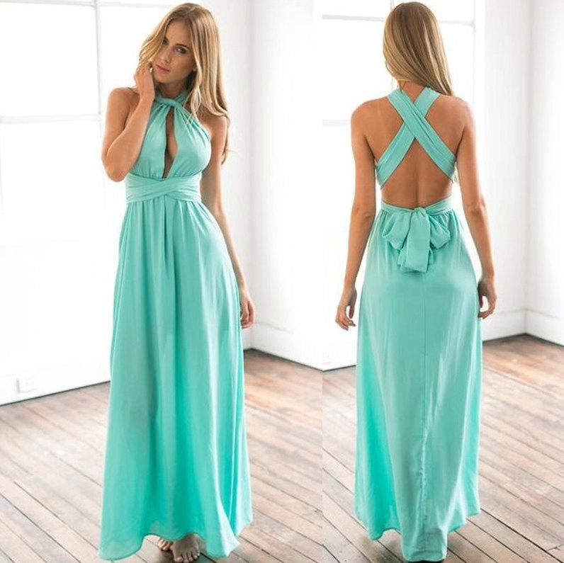 Long Dress Transformer Infinity Boho Bridesmaid Evening Wedding Turquoise