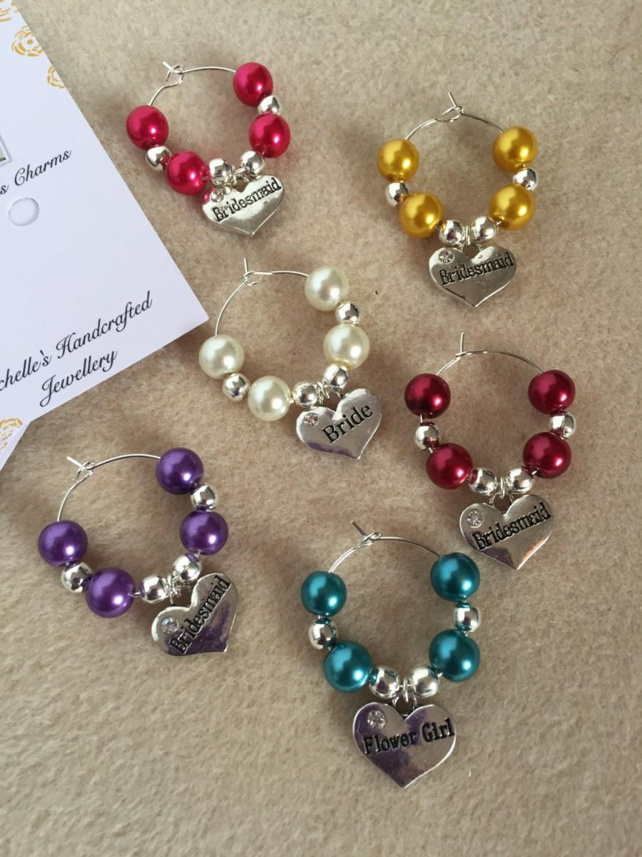 Wedding Wine Glass Charms, Wedding Table Decor, Wine Glass Charms ...