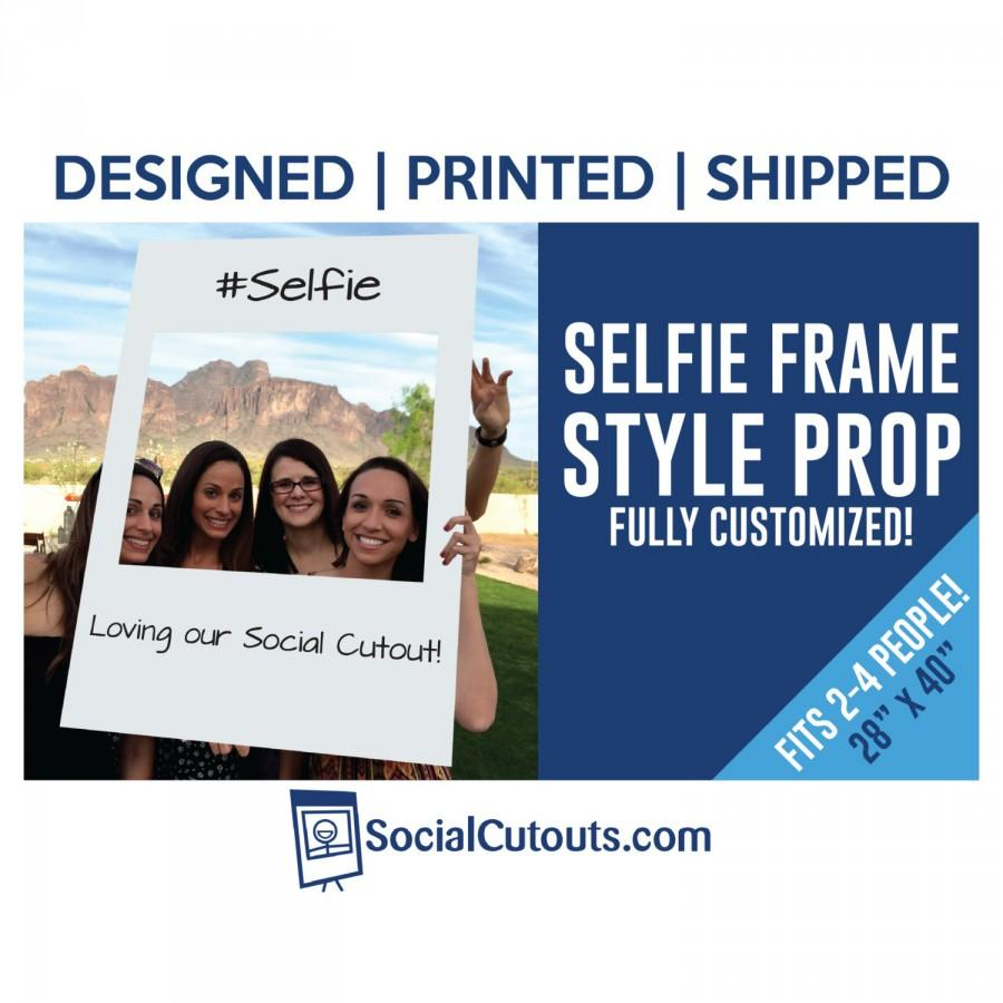 Свадьба - Selfie Frame Printed and Shipped to you perfect photo prop for Wedding and Birthday parties or Baby Shower and Graduation Party Decorations