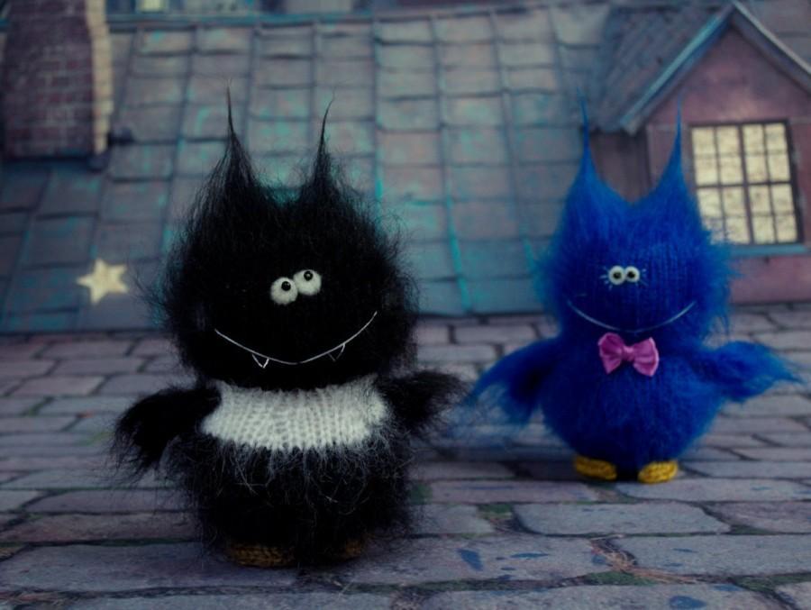 Wedding - Bat Halloween doll - Hand-knitted Toy Halloween Amigurumi bat Miniature Dolls Halloween decor Toys bat Plush Softie Fluffy Animal bats
