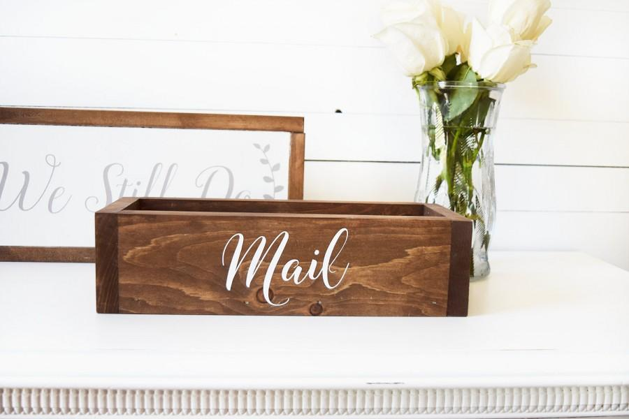 Mail Organizer  Mail Holder  Office Mail Organizer  Rustic Housewarming  Gifts  Farmhouse Style  Newlywed Gifts  Rustic Bridal Shower Gifts