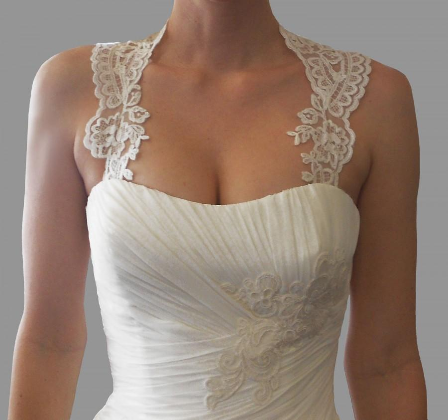 Mariage - Detachable Lace Keyhole-Back Straps #17
