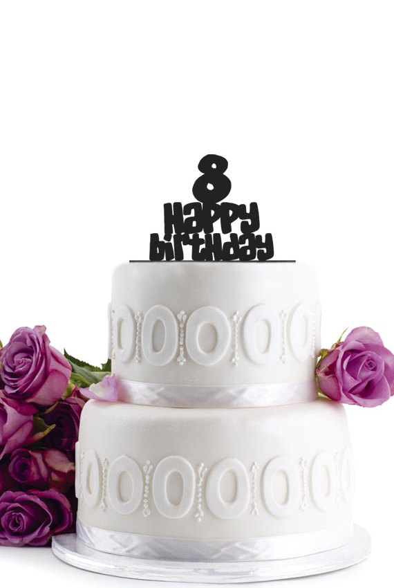 Birthday Cake Topper - Number Cake Topper - Monogram Cake ...