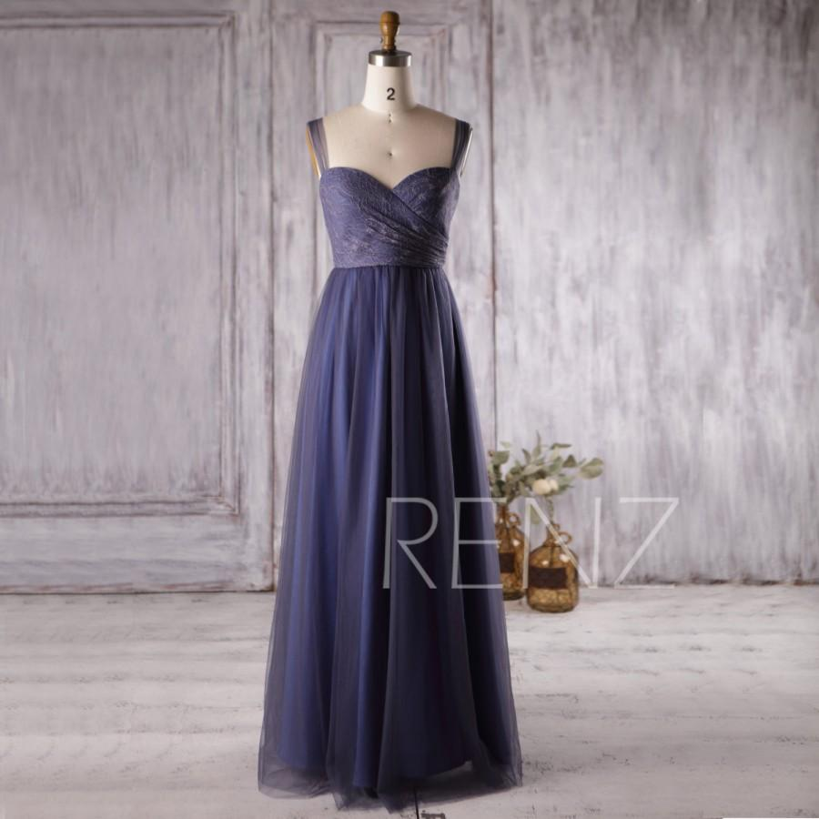 2016 navy blue mesh bridesmaid dress lace sweetheart for Navy blue maxi dress for wedding