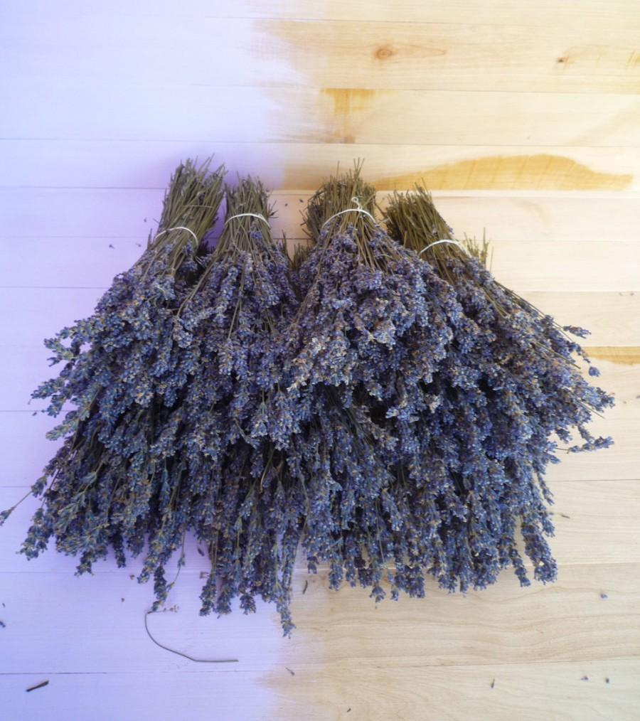 Mariage - Dried Lavender Flowers,Dried Lavender Bunch 130+stems,Dry English Lavender,Wedding,Home Decor,Purple dried decor,Lavender wedding favors