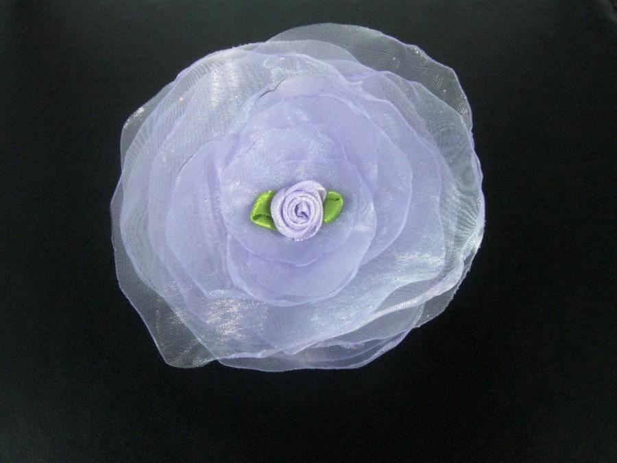 Wedding - Lilac Flower Girl Hair Accessories, Flower Girl Hair Clip, Wedding, Hair Piece, Headpiece, Alligator Clip