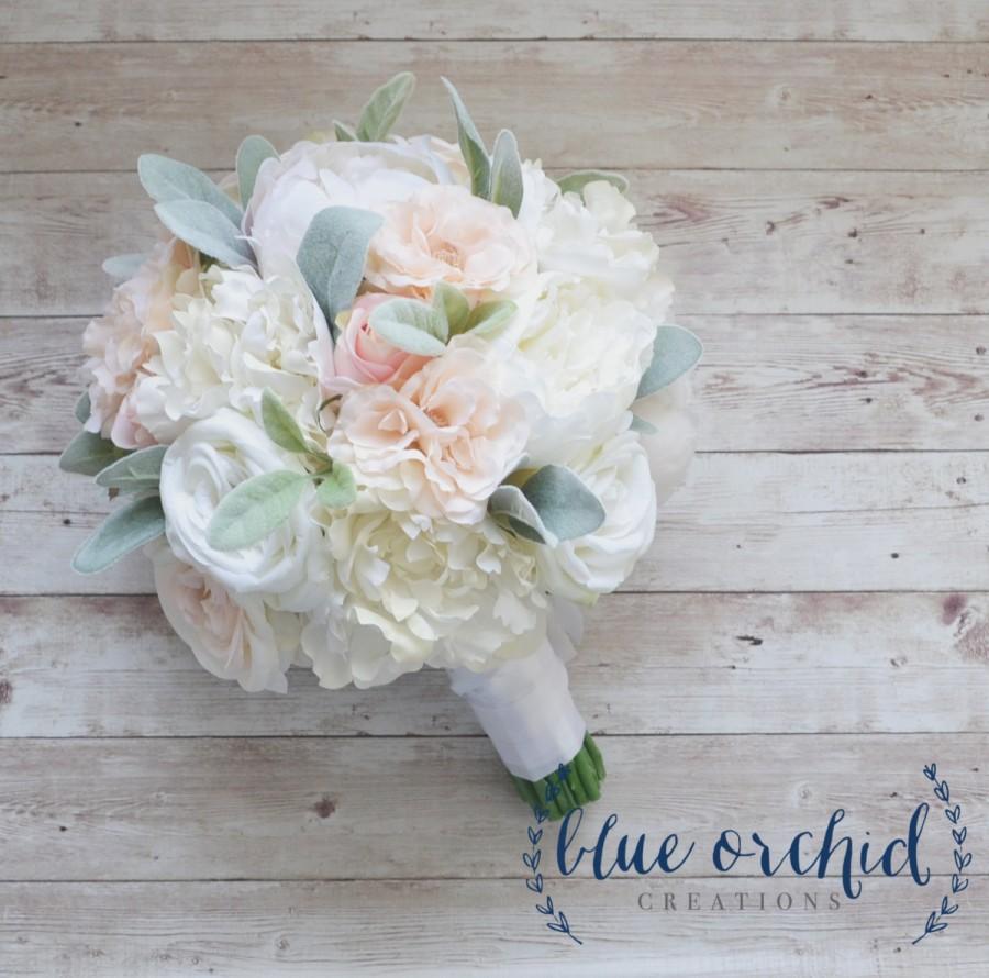Mariage - Peony Bouquet, Wedding Bouquet, Silk Bouquet, Silk Wedding Bouquet, Silk Peony Bouquet, Blush Pink Bouquet, Artificial Bouquet, Silk Flowers
