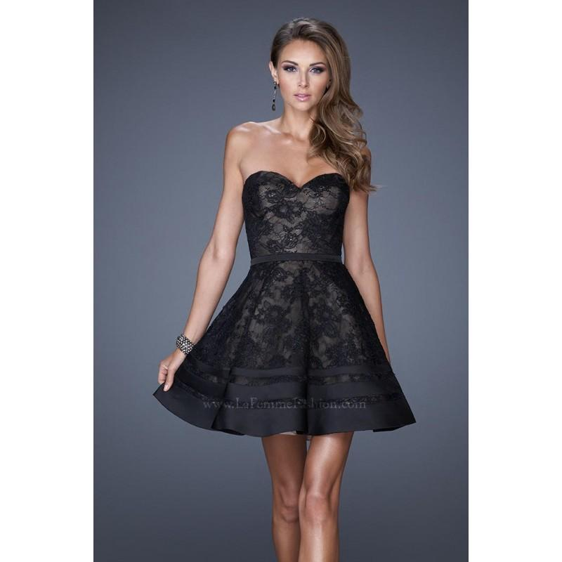 Wedding - La Femme Short Cocktail 20562 - Elegant Evening Dresses