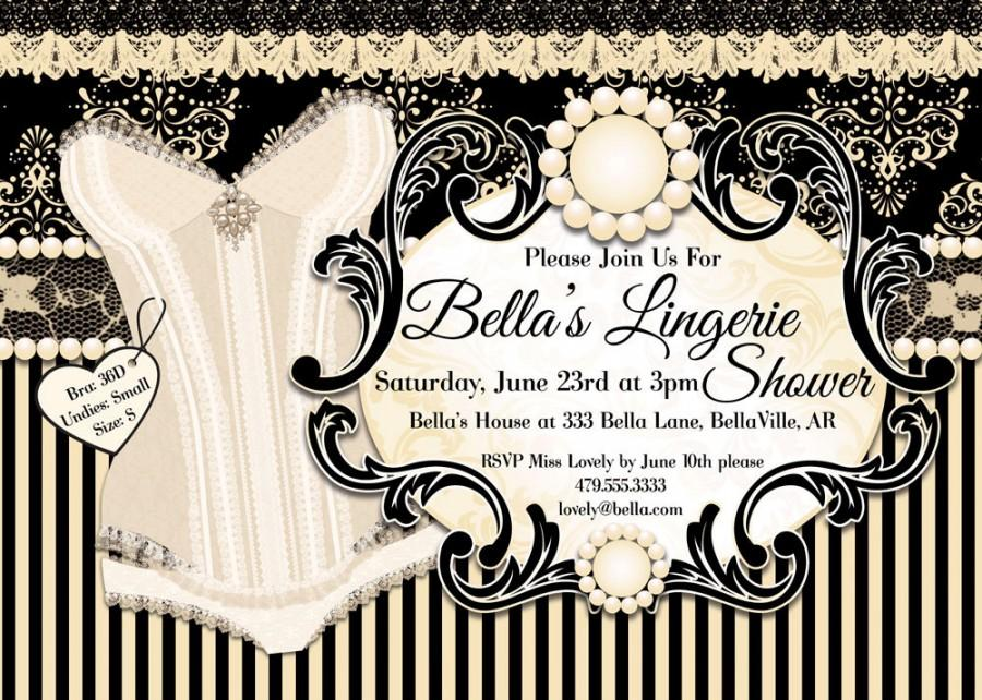 Lingerie Shower Invitation Bachelorette Party Bridal Shower Party
